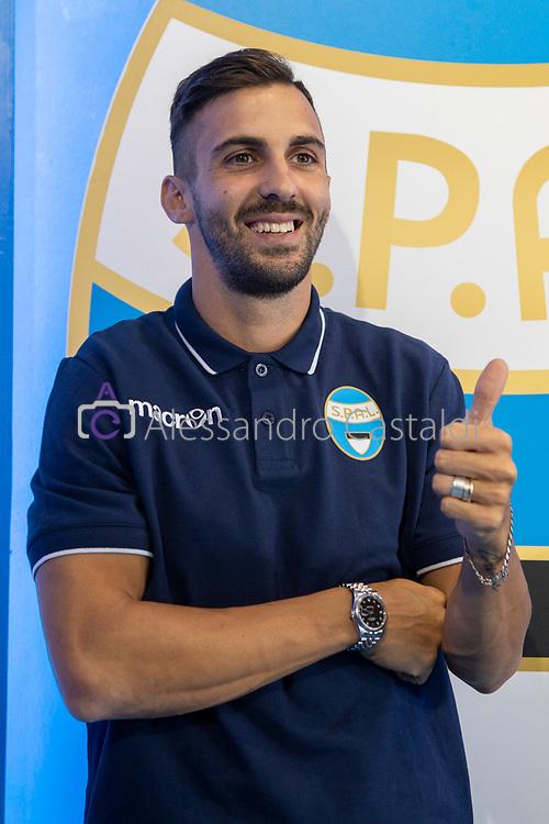 FERRARA - ITALY, 11-07-19 - Conferenza Stampa SPAL Presentazione Giocatore 2019—2020 Centro Sportivo G.B. Fabbri, FOTO DI CASTALDI, NELLA FOTO: Marco D'Alessandro