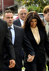 Oct. 2, 2014 - Newark, NJ, United States - ....October 2 2014, Newark NJ....TV personalities Joe and Teresa Guidice arrive at Newark Federal Court for sentencing on a variety of financial fraud charges on October 2 2014 in Newark, NJ  (Credit Image: © Curtis Means/Ace Pictures/ZUMA Wire)