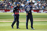 Sam Billings and Joe Root of England during the One Day International match between England and Ireland at the Brightside County Ground, Bristol, United Kingdom on 5 May 2017. Photo by Andrew Lewis.