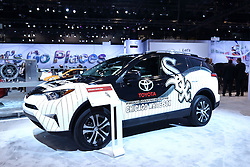 09 February 2017: Toyota Chicago White Sox RAV4<br /> <br /> First staged in 1901, the Chicago Auto Show is the largest auto show in North America and has been held more times than any other auto exposition on the continent.  It has been  presented by the Chicago Automobile Trade Association (CATA) since 1935.  It is held at McCormick Place, Chicago Illinois<br /> #CAS17