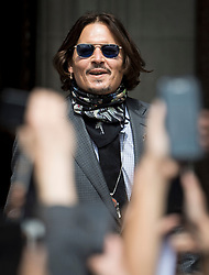 © Licensed to London News Pictures. 23/07/2020. London, UK. American actor JOHNNY DEPP arrives at the High Court in London where Johnny Depp is in a legal dispute with UK tabloid newspaper The Sun over allegations he assaulted his former wife, Amber Heard. Photo credit: Ben Cawthra/LNP