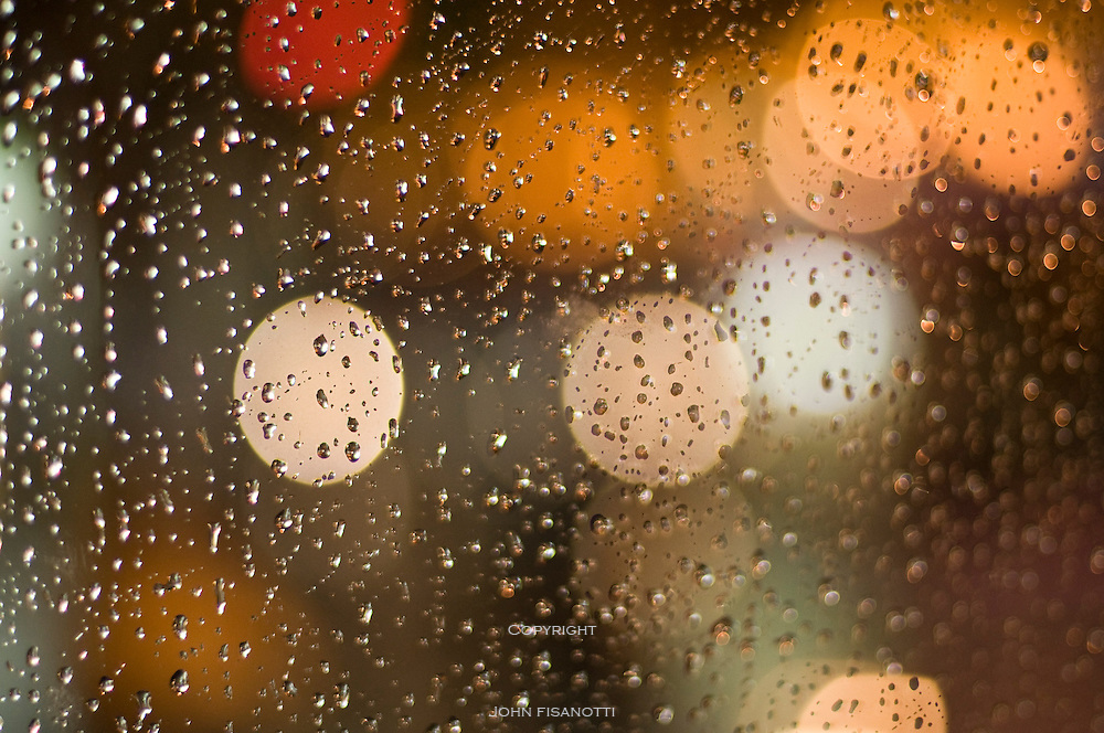 Rain drops against the window