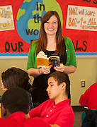 Deana Selvaggio teaches her 6th grade class at Ortiz Middle School, May 1, 2013.