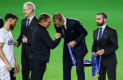 LJUBLJANA, SLOVENIA - JUNE 06: Stefan Kuntz, head coach of Germany and Aleksander Ceferin, president of UEFA with a gold medal at trophy ceremony following victory in the 2021 UEFA European Under-21 Championship Final match between Germany and Portugal at Stadion Stozice on June 06, 2021 in Ljubljana, Slovenia. Photo by Grega Valancic / Sportida