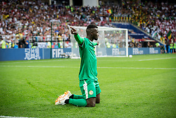 June 19, 2018 - Moscou, VAZIO, Russia - M'Baye Niang (19) extends Senegal's lead during the match between Poland and Senegal, valid for the first round of Group H of the 2018 World Cup, held at the Spartak Stadium. Latest score, Senegal got 2 while Poland got 0. (Credit Image: © Thiago Bernardes/Pacific Press via ZUMA Wire)