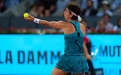 May 6, 2019 - Madrid, MADRID, SPAIN - Carla Suarez Navarro of Spain in action during her second-round match at the 2019 Mutua Madrid Open WTA Premier Mandatory tennis tournament (Credit Image: © AFP7 via ZUMA Wire)