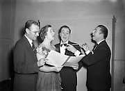 23/10/1953<br /> 10/23/1953<br /> 23 October 1953<br /> <br /> Radio Review Special  at theatre Royal<br /> <br /> Joe Loss (on right) Norman Metcalfe (extreme left)