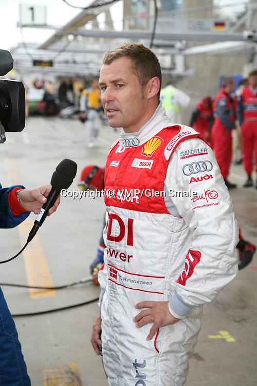 Tom Kristensen being interviewed pre-race, Le Mans 24Hr 2007