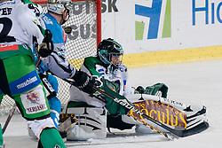 Matija Pintaric (HDD Tilia Olimpija, #69) during ice-hockey match between HDD Tilia Olimpija and EHC Liwest Black Wings Linz in 19th Round of EBEL league, on November 7, 2010 at Hala Tivoli, Ljubljana, Slovenia. (Photo By Matic Klansek Velej / Sportida.com)
