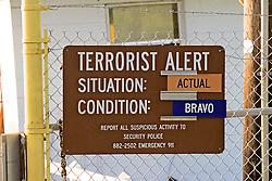 Terrorist Alert Sign - Condition Bravo