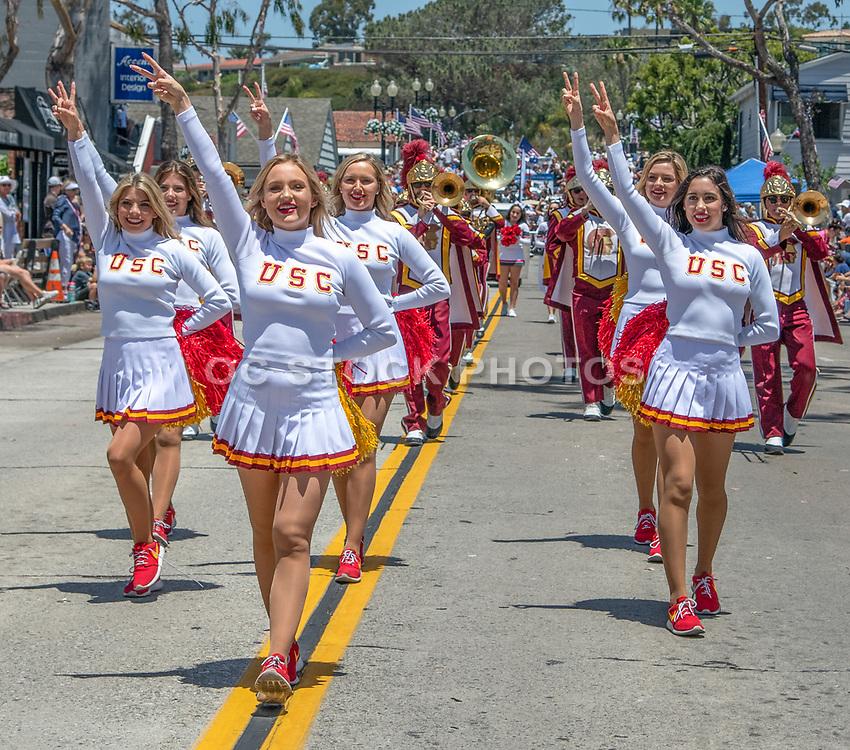 USC Cheerleaders at the Annual Balboa Island Parade