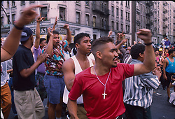 Washington Heights in Manhatten during unrest and rioting, New York, 07/07/1992