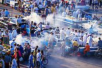 Food stalls, Jemaa el Fna (central square),  Marrakech, Morocco