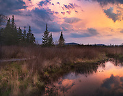 """Stormy Sunrise at Freeland Run, Canaan Valley, West Virginia.<br /> <br /> Available sizes:<br /> 14"""" x 11"""" print or canvas print<br /> <br /> See Pricing page for details. <br /> <br /> Please contact me for custom sizes and print options including canvas wraps, metal prints, assorted paper options, etc. <br /> <br /> I enjoy working with buyers to help them with all their home and commercial wall art needs."""