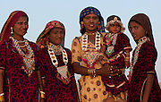 Mother and Child with family - Rajasthan Jaisalmer India 2011