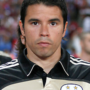 Benfica's Saviola FERNANDEZ during their UEFA Champions League third qualifying round, second leg, soccer match Trabzonspor between Benfica at the Ataturk Olimpiyat Stadium at İstanbul Turkey on Wednesday, 03 August 2011. Photo by TURKPIX