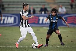 Bari (BA) 21.07.2012 - Trofeo Tim 2012. Inter - Juventus. Nella Foto: Caceres (J) e Coutinho (I)