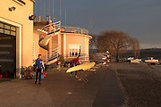 Varese. Lombardia. ITALY. General View. Varese Rowing Club. [Canottieri Varese] Province of Varese.  Sunset <br /> <br /> Monday  02/01/2017<br /> <br /> [Mandatory Credit; Peter Spurrier/Intersport-images]<br /> <br /> <br /> LEICA CAMERA AG - LEICA Q (Typ 116) - 1/400 - f4