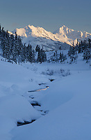 North Cascades in winter, from Bagley Creek, Heather Meadows Recreation Area Washington