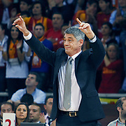 Galatasaray's coach Oktay MAHMUTI during their Euroleague Game 2 basketball match Galatasaray between Unics Kazan at the Abdi Ipekci Arena in Istanbul at Turkey on Thursday, October, 27, 2011. Photo by TURKPIX