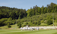 Photo: Chris Ratcliffe.<br />England training session. 07/06/2006.<br />England training in the backdrop of the Black Mountains in Buhlertal.