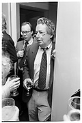MORDECAI RICHLER.  PARTY GIVEN FOR MORDECAI RICHLER BY SONNY AND GITA MEHTA. MANHATTAN, 1990.<br /> <br /> SUPPLIED FOR ONE-TIME USE ONLY> DO NOT ARCHIVE. © Copyright Photograph by Dafydd Jones 248 Clapham Rd.  London SW90PZ Tel 020 7820 0771 www.dafjones.com
