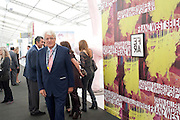 GERT RUDOLPH FLICK;, OPENING OF FRIEZE ART FAIR. Regent's Park. London.  12 October 2011. <br /> <br />  , -DO NOT ARCHIVE-© Copyright Photograph by Dafydd Jones. 248 Clapham Rd. London SW9 0PZ. Tel 0207 820 0771. www.dafjones.com.