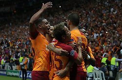 September 18, 2018 - °Stanbul, Türkiye - Galatasaray's Eren Derdiyok celebrate his goal during Galatasaray - Lokomotiv Moscow UEFA Champions League Game at Turk Telekom Arena, 18th of Sept. 2019. (Credit Image: © Tolga Adanali/Depo Photos via ZUMA Wire)