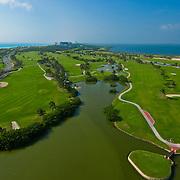 Hilton Golf Course from the air.<br /> Cancun, Quintana Roo. Mexico.