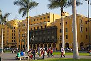 Plaza Mayor, Plaza de Armas, Cathedral of Lima, Ciudad de los Reyes, Historic center of the city, Lima, Peru