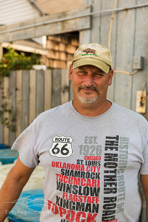 Tim Downs is a commercial clammer in Scarborough, Maine.