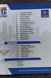 070418 Emirates Airlines Park, Ellis Park, Johannesburg, South Africa. Super Rugby. Lions vs Stormers. The Stormers team sheet.<br />Picture: Karen Sandison/African News Agency (ANA)