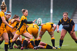 Claudia MacDonald of Wasps FC Ladies shapes to box kick - Mandatory by-line: Nick Browning/JMP - 24/10/2020 - RUGBY - Sixways Stadium - Worcester, England - Worcester Warriors Women v Wasps FC Ladies - Allianz Premier 15s