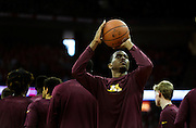 University of Minnesota Men's Basketball warms up before their game versus University of Wisconsin on March 5, 2017 at the Kohl Center in Madison, Wisconsin.