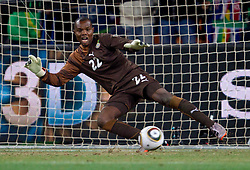 Goalkeeper of Ghana Richard Kingson during the penalty shots at  2010 FIFA World Cup South Africa Quarter Finals football match between Uruguay and Ghana on July 02, 2010 at Soccer City Stadium in Sowetto, suburb of Johannesburg. Uruguay defeated Ghana after penalty shots. (Photo by Vid Ponikvar / Sportida)