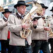 Austrian band in Stephansdom in Vienna, Austria