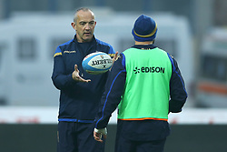 November 25, 2017 - Padova, Italy - Italy coach Conor Oshea during the Rugby test match between Italy and South Africa at Plebiscito Stadium in Padova, Italy on November 25, 2017. (Credit Image: © Matteo Ciambelli/NurPhoto via ZUMA Press)