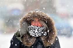 © Licensed to London News Pictures.02/03/2018<br /> Orpington, UK.<br /> Blizzard weather conditions in Orpington,Kent this afternoon as the snow continues to fall across the UK.<br /> Photo credit: Grant Falvey/LNP