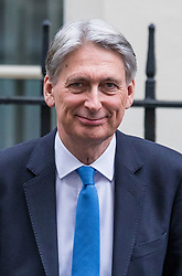 © Licensed to London News Pictures. 12/03/2018. London, UK. The Chancellor of The Exchequer Philip Hammond leaves 11 Downing Street on the eve of the Spring Statement. Photo credit: Rob Pinney/LNP