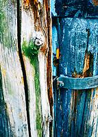 Aging pilings at a dock in Lago del Garda, Italy.