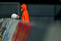 Ball boy in rain during football match between NK Domzale and NK Koper in 34th Round of Prva liga Telekom Slovenije 2020/21, on May 16, 2021 in Sports park Domzale, Domzale, Slovenia. Photo by Vid Ponikvar / Sportida