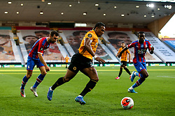 Adama Traore of Wolverhampton Wanderers looks to cross the ball - Mandatory by-line: Robbie Stephenson/JMP - 20/07/2020 - FOOTBALL - Molineux - Wolverhampton, England - Wolverhampton Wanderers v Crystal Palace - Premier League