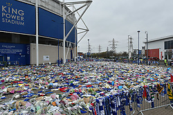 The KP Stadium has become a shrine to the achievements of Vichai Srivaddhanaprabha (c) Simon Kimber | SportPix.org.uk