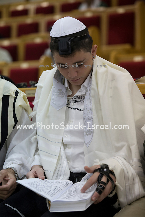 Israel, Tel Aviv, Beit Daniel, Tel Aviv's first Reform Synagogue Bar Mitzvah ceremony