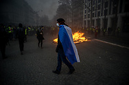 More than 125000 gathered in Paris for the Gilets Jaune (Yellow vest) protest. Soon the protest turned violent an protesters clashed with the police, tear gas and flash bombs were fired, many injured and arrested by the police. Paris December 6th 2018. Federico Scoppa