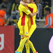 Romania's celebrates his goal Gheorghe Teodor Grozav, Ciprian Andrei Marica during their FIFA World Cup 2014 qualifying soccer match Turkey betwen Romania at Sukru Saracoglu stadium in Istanbul october 12, 2012. Photo by TURKPIX