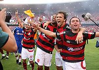 20091206: RIO DE JANEIRO, BRAZIL - Flamengo vs Gremio: Brazilian League 2009 - Flamengo won 2-1 and celebrated the 6th Brazilian Championship of its history. In picture: Flamengo players (Petkovic, Juan...) celebrating victory. PHOTO: CITYFILES