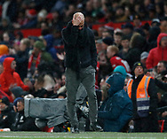 Josep Guardiola manager of Manchester City dejected  during the Premier League match at Old Trafford, Manchester. Picture date: 8th March 2020. Picture credit should read: Darren Staples/Sportimage