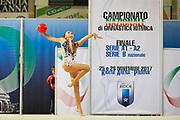 Martina Germani from Virtus Giussano team during the Italian Rhythmic Gymnastics Championship in Padova, 25 November 2017.