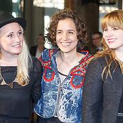 NLD/Amsterdam/20151102 - Boekpresentatie Extase, Milou van der Will, Myrthe van der Meer en Chantal van Gastel